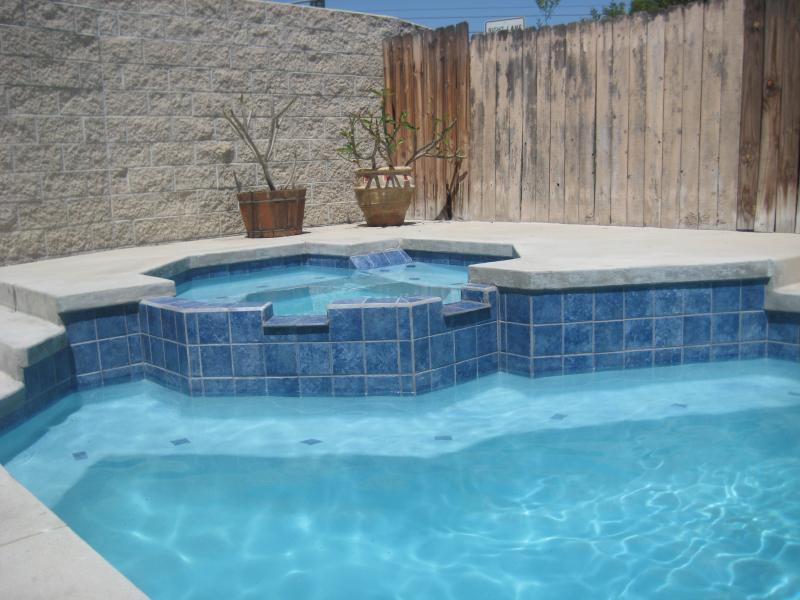 After: 3M Blue Swimming Pool Plaster