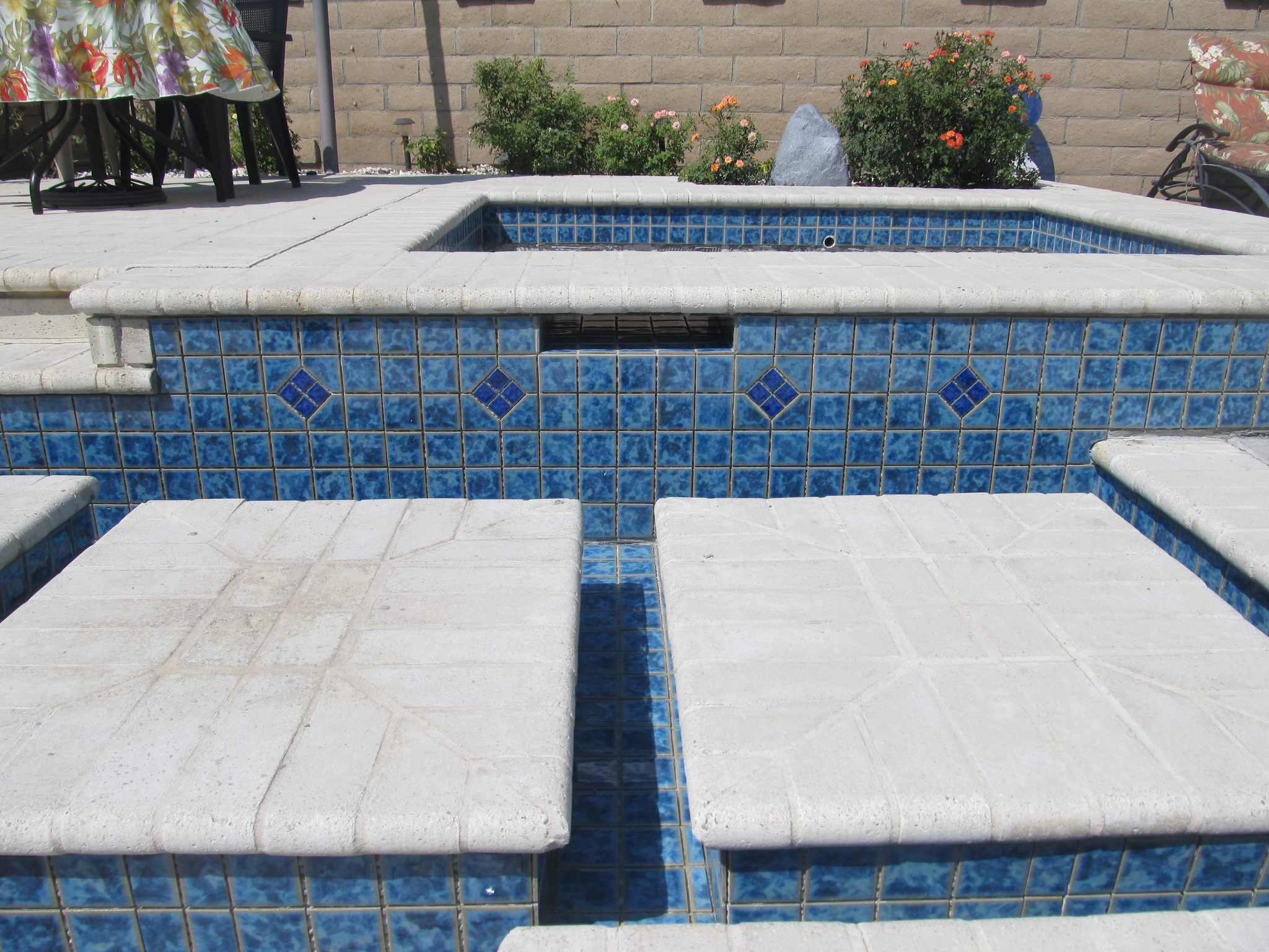 Swimming pool tile retiling trinity custom pools for Swimming pool tile pictures