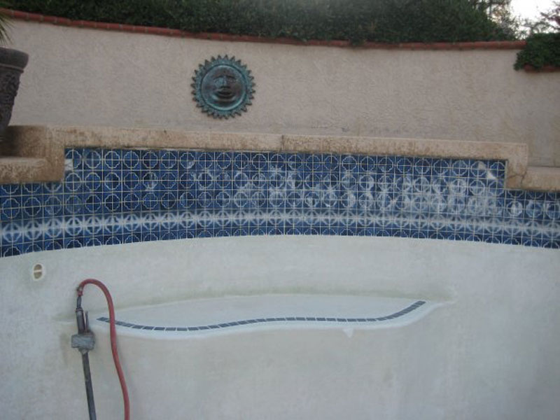 Before: Old Broken Pool Tile