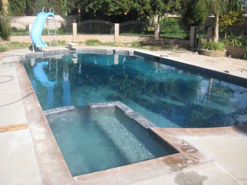 After: New Grey Swimming Pool Plaster