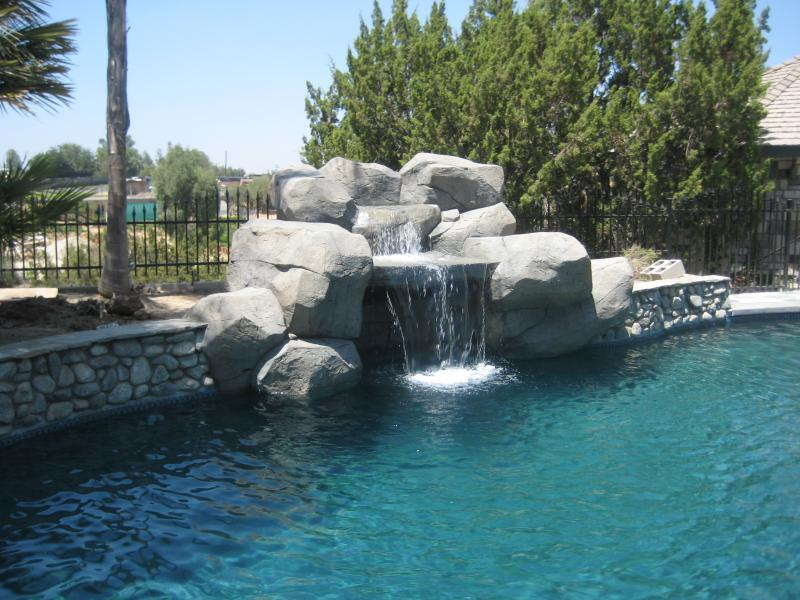 Amazing Custom Large Rock Tiered Waterfall