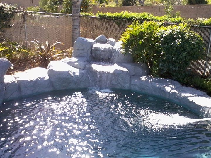 Custom rock Work and Tiered Waterfall Feature