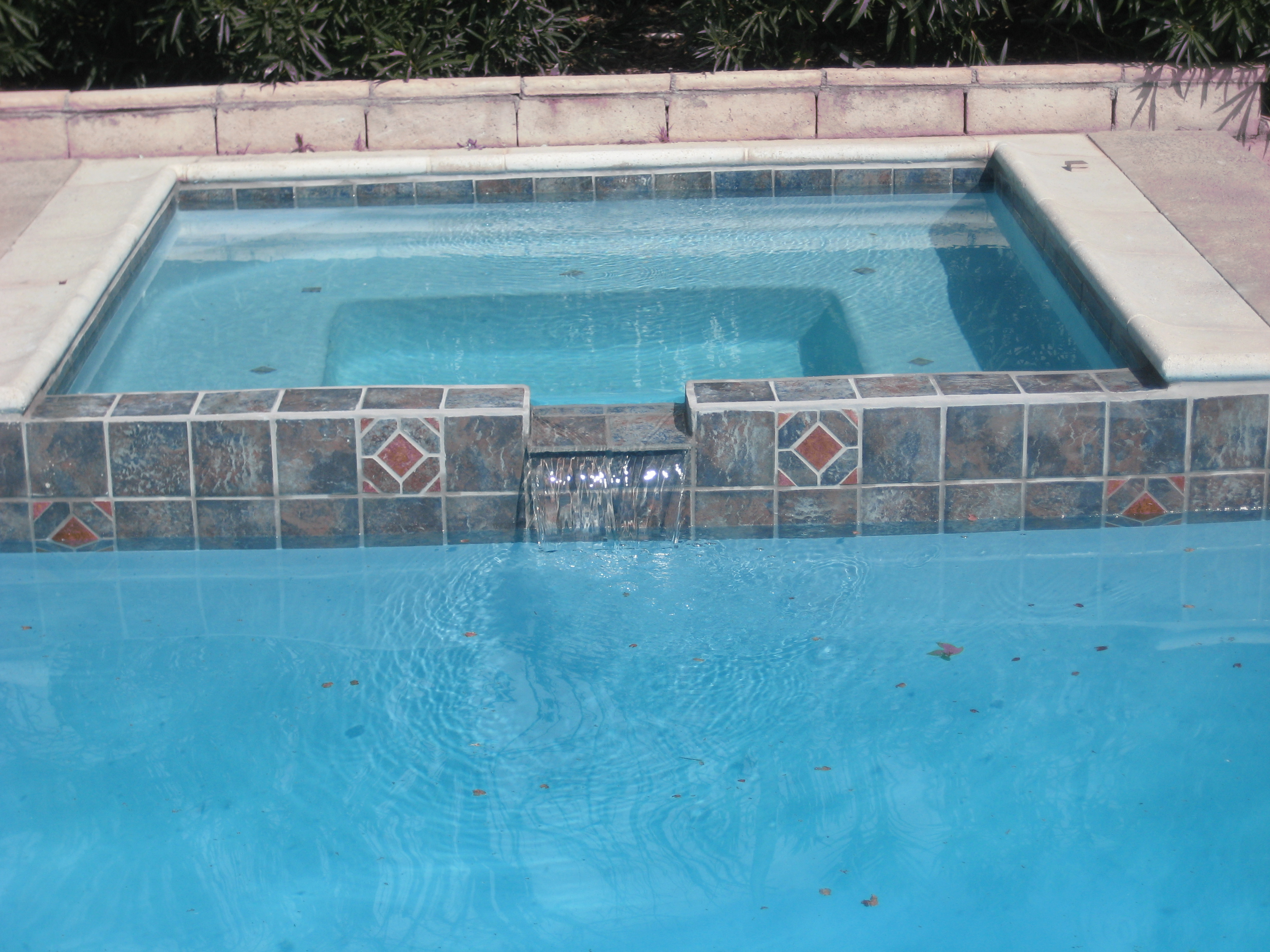 Trinity custom pools walls and waterfalls - How soon can you swim after plastering pool ...